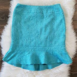 B2G1 Nipon Boutique Turquoise Trumpet Pencil Skirt